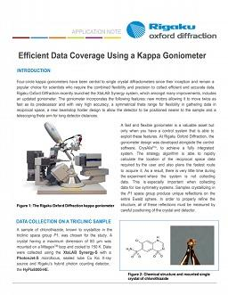 Single crystal X-ray diffractometer with kappa goniometer for efficient data collection