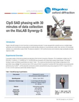 ClpS SAD phasing with 30 minutes of data collection on the XtaLAB Synergy-S