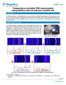 XRD application note B-XRD1101